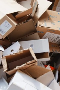 Repurpose cardboard boxes. Do not throw them away.
