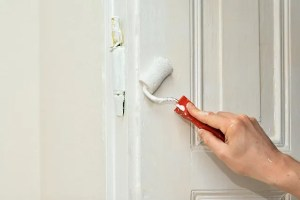 Painting door to upgrade your home for under $100