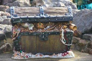 A pirate chest with treasure to help prepare your valuables for transportation