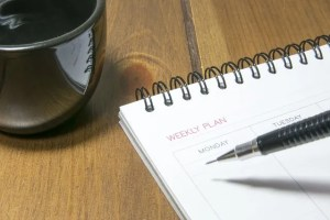 Diary with calendar