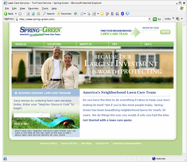 Spring-Green Lawn Care (ecommerce / content management system)