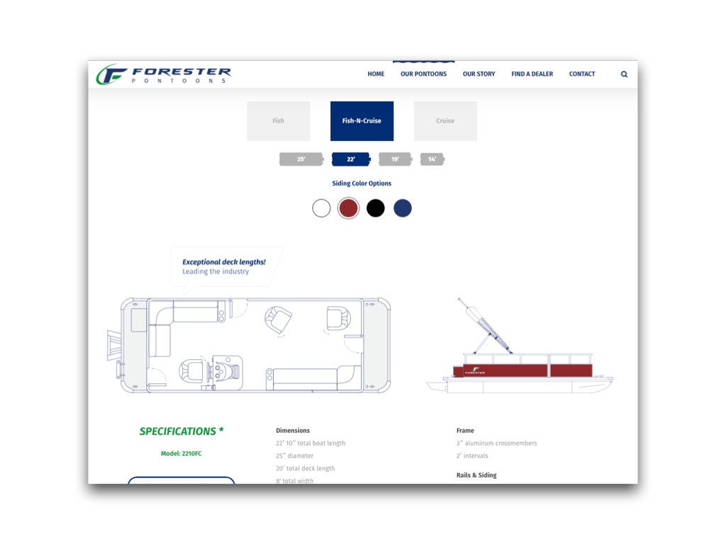Forester Pontoons Launches A New Website Just In Time For