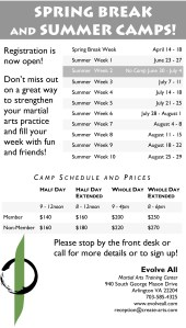 2014 Spring Break and Summer Camp Flyer - Microsoft Word - Spring Break and Summer Camp.doc
