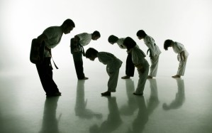 Students bow – Evolve All – martial arts training