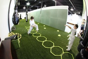 FIsh eye turf room – Evolve All, martial arts training
