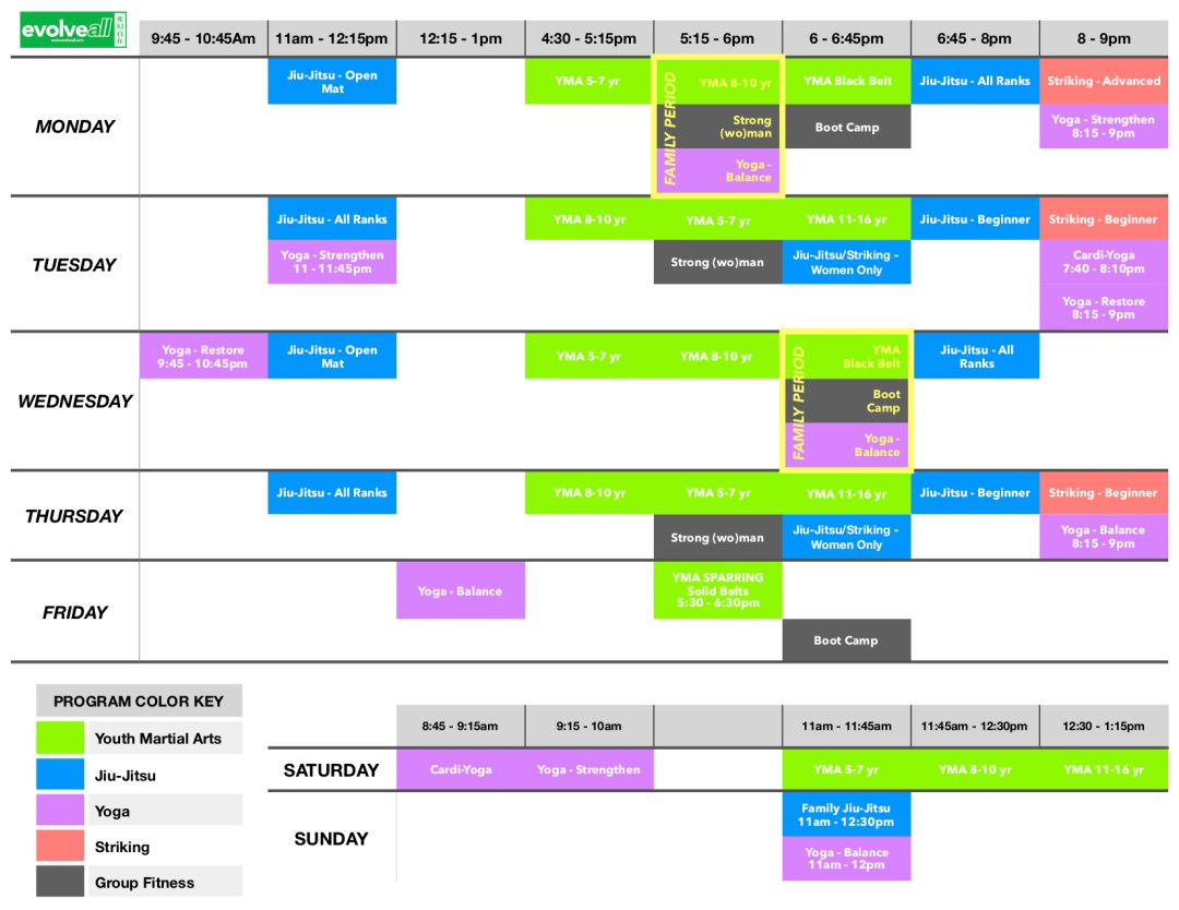 EA Schedule V. 6 - EvolveAll - Training Arts Center, VA