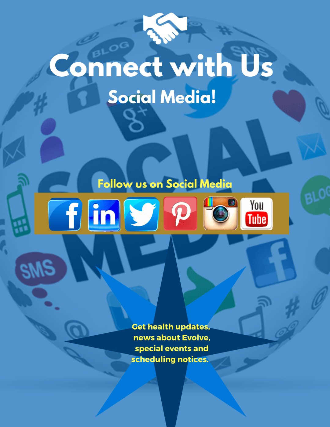 connect with us on social media members - Members Only