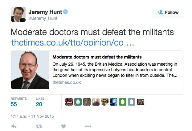 EvolvePolitics.com | Jeremy Hunt - Militants