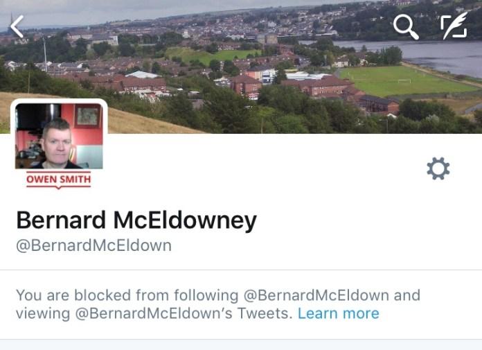 Bernard McEldowney Blocked