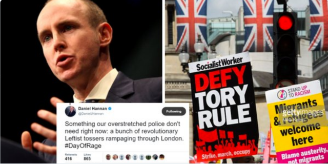 'LEFTIST TOSSERS AND D*CKS': how Tories view those who challenge their heartless regime