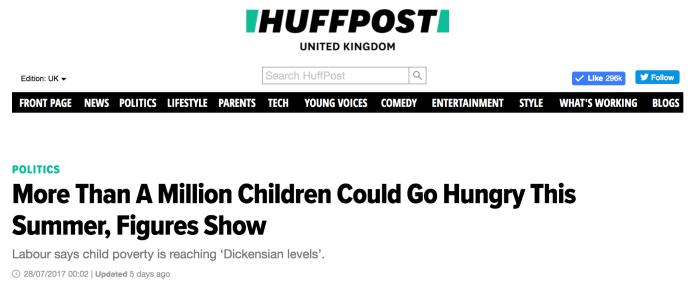 Huff Post Million Children Go Hungry