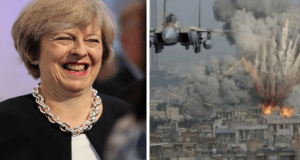 May slams states that break global treaties, despite UK breaking global weapons treaty in Saudi Arabia deals