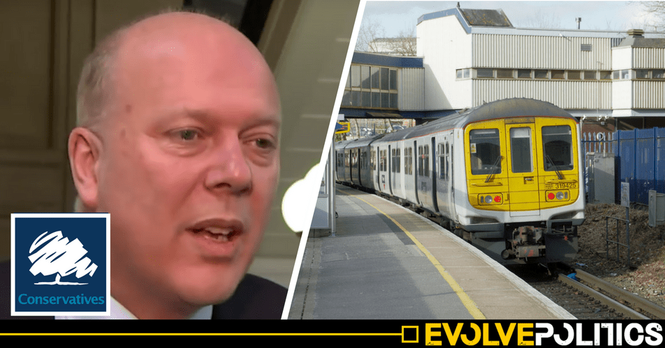 Tory Transport Secretary Chris Grayling shamefully blames trade unions for Tory rail privatisation shambles