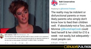 Jack Monroe goes APOPLECTIC at Tory for using their work to shame people in poverty