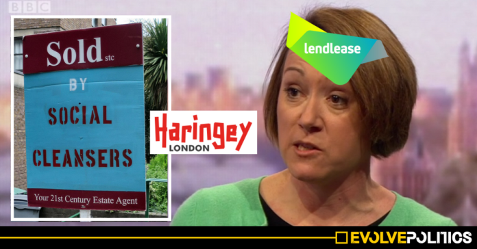Haringey Councillors including Claire Kober were wined and dined 13 times by HDV-linked property lobbyists