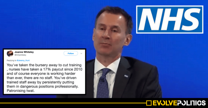 Jeremy Hunt gets torn to pieces after issuing a disgustingly shabby International Nurses Day tribute [TWEETS]