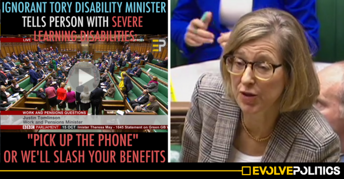 WATCH: Tory Disability Minister tells person with severe learning disabilities