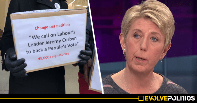 Right-wing Labour MP Angela Smith left red-faced after ridiculous People's Vote publicity stunt fail
