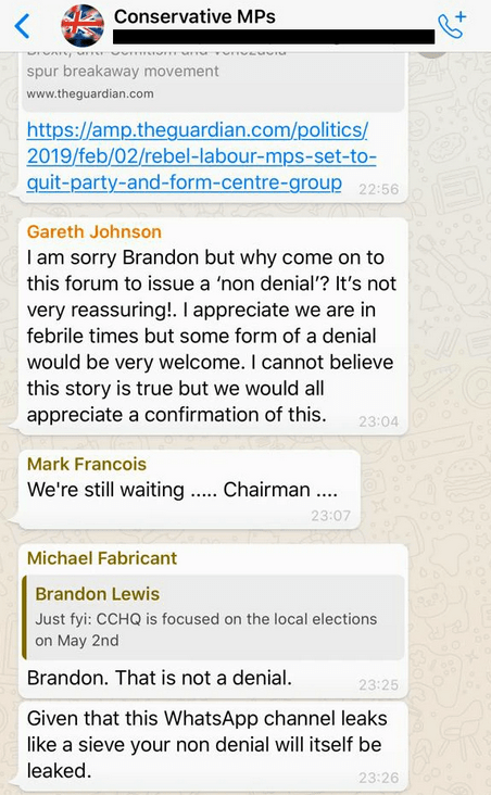 Leaked Messages Gareth Johnson