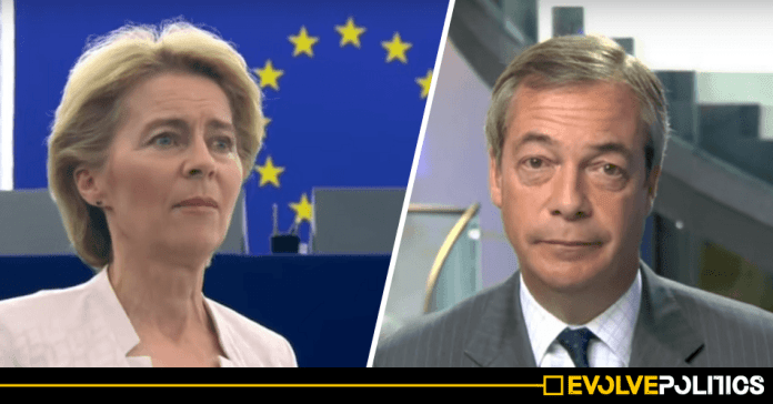 Nigel Farage ridiculed after claiming new EU President's 54% vote share isn't a big enough margin
