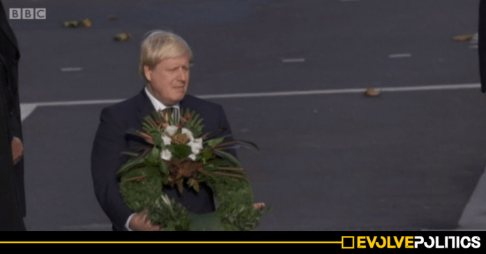 BBC accused of 'covering up' Boris Johnson Remembrance Day gaffe by using 2016 footage