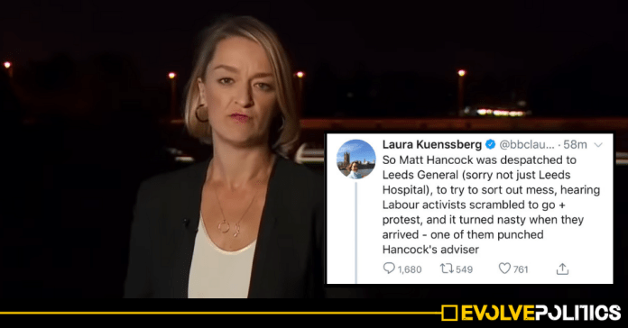 "BBC's Laura Kuenssberg exposed spreading OUTRIGHT LIE about Labour activist ""punching"" Tory advisor"