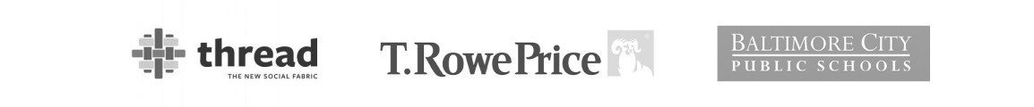 Logos - Thread, T. Rowe Price and Baltimore City Schools