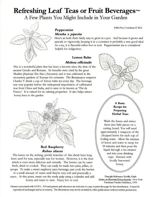 Herbal Teas NOFA-NH