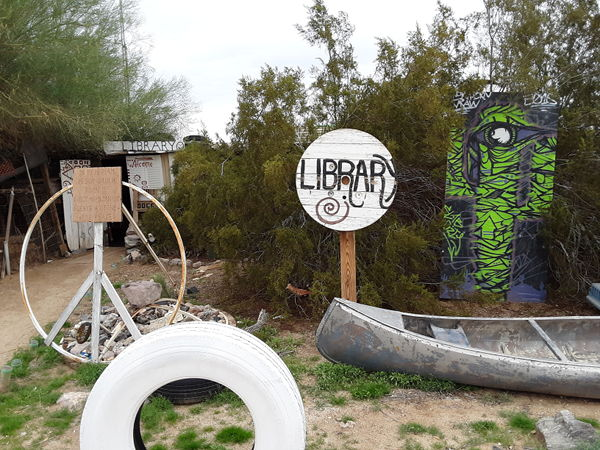 The Slab City library entrance is the most unique I've ever seen.