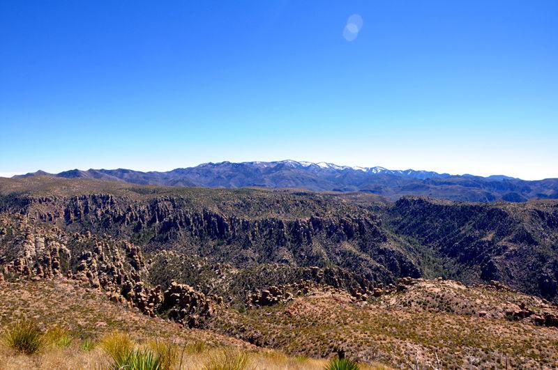 A view of some mountains near Benson Arizona.