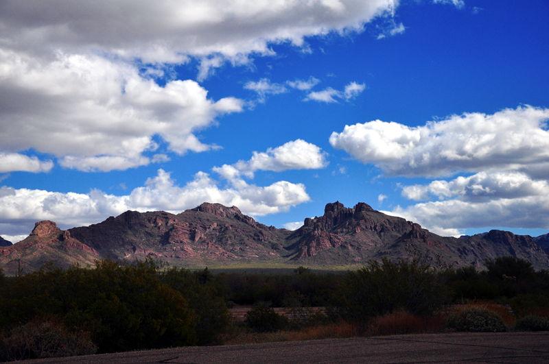 The hills near our boondocking spot near Gunsight wash in Arizona.