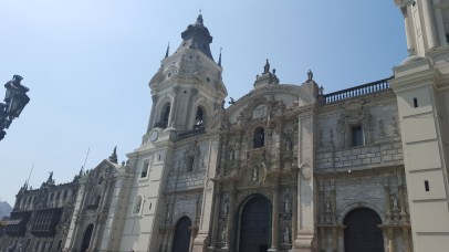 An old cathedral built by the spaniards when they invade Peru. Located in Plaza de Armas - Lima, Peru