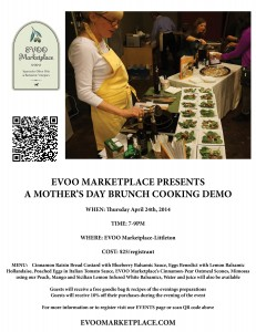 EVOO Marketplace Mother's Day Cooking Demo