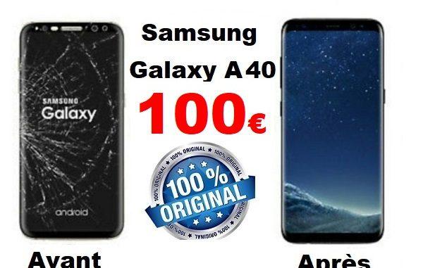 remplacement ecran samsung galaxy a40