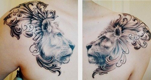 lion-and-lioness-tatoo