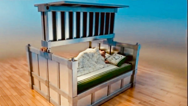 Earthquake resistant bed, designed in China