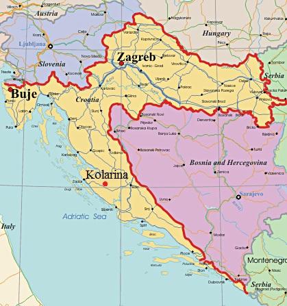 Hrvatska-map