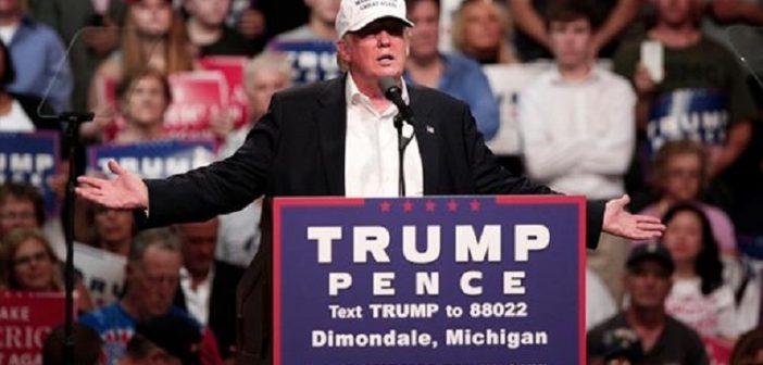 """Дональд Трамп проводит ралли в Мичигане. Пытается сделать то, чего еще не делал ни один кандидат республиканцев, аппелируя к афроамериканцам: """"Вам нечего терять. Дайте мне шанс. Вы будете довольны..."""""""