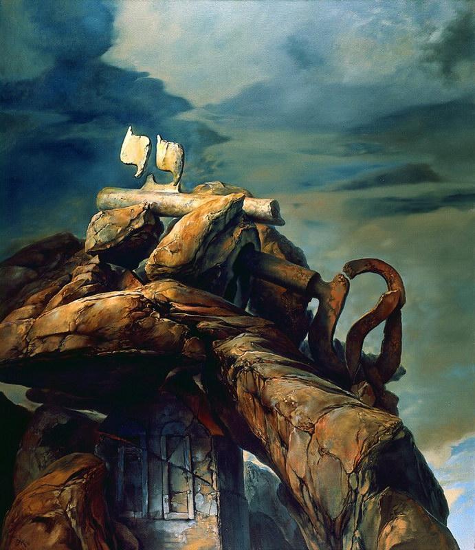 samuel bak 009 Холокост в еврейских картинах Самуила Бака (Samuel Bak)
