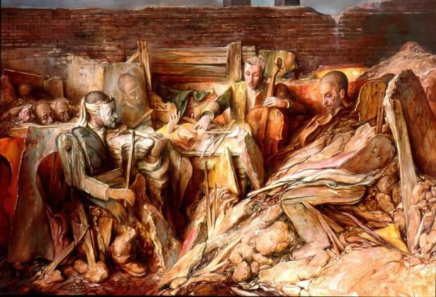 samuel bak 011 Холокост в еврейских картинах Самуила Бака (Samuel Bak)
