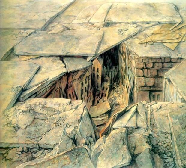 samuel bak 021 Холокост в еврейских картинах Самуила Бака (Samuel Bak)
