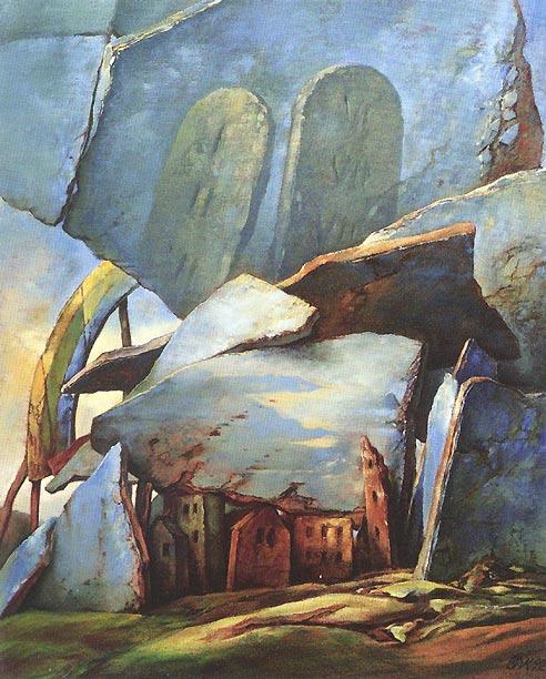 samuel bak 037 Холокост в еврейских картинах Самуила Бака (Samuel Bak)