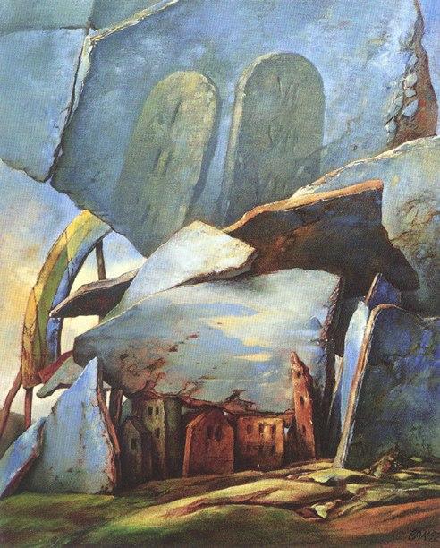 samuel bak 040 Холокост в еврейских картинах Самуила Бака (Samuel Bak)
