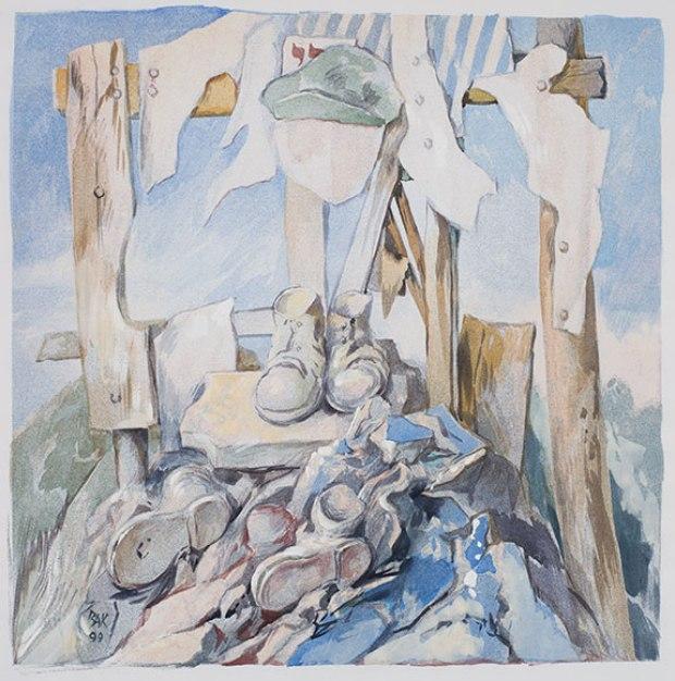 samuel bak 055 Холокост в еврейских картинах Самуила Бака (Samuel Bak)
