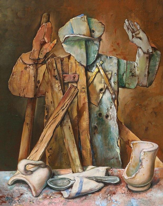 samuel bak 079 Холокост в еврейских картинах Самуила Бака (Samuel Bak)