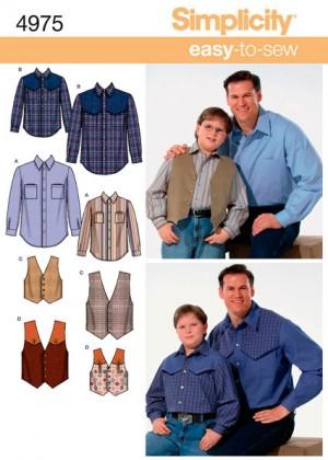 Выкройка Simplicity — Рубашка, Жилет - S4975 ()