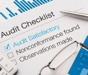 Audit checklist on a desk