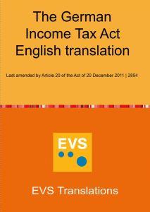 EVS Translations публикува превод на английски език на германския Закон за данъците върху доходите