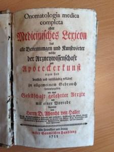 Haller - Medizinisches Lexikon von 1755 - EVS Translations