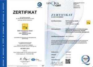 EVS Translations - qualifizierte Fachübersetzungen